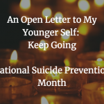 National Suicide Prevention Month Candles